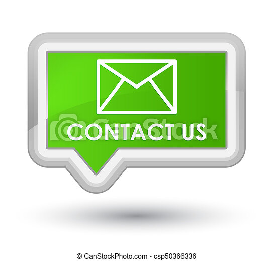Contact us (email icon) prime soft green banner button - csp50366336