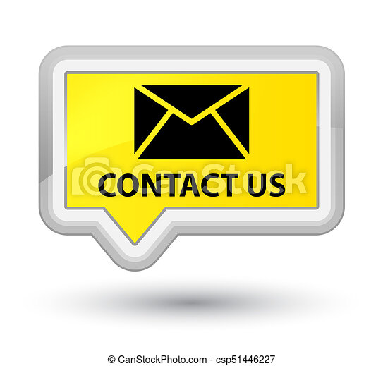Contact us (email icon) prime yellow banner button - csp51446227