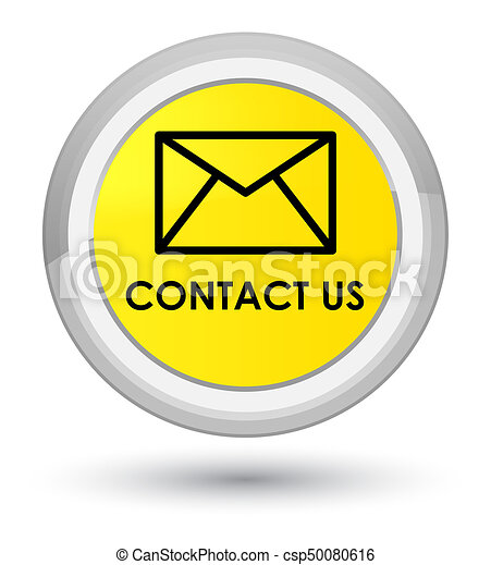 Contact us (email icon) prime yellow round button - csp50080616