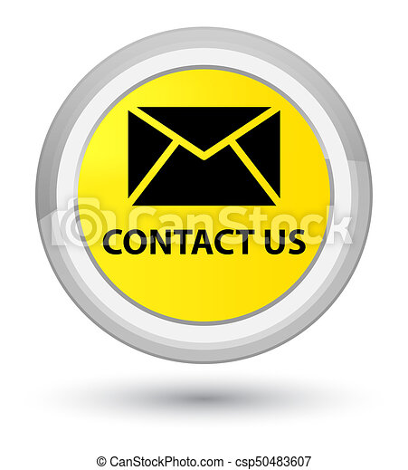 Contact us (email icon) prime yellow round button - csp50483607