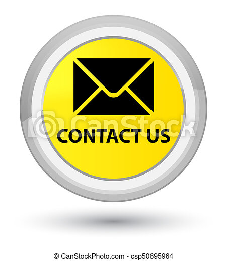 Contact us (email icon) prime yellow round button - csp50695964