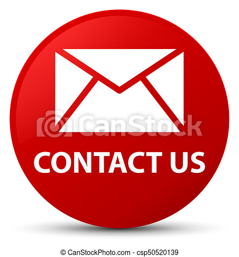 Contact Us Red >> Contact us (email icon) red round button. Contact us