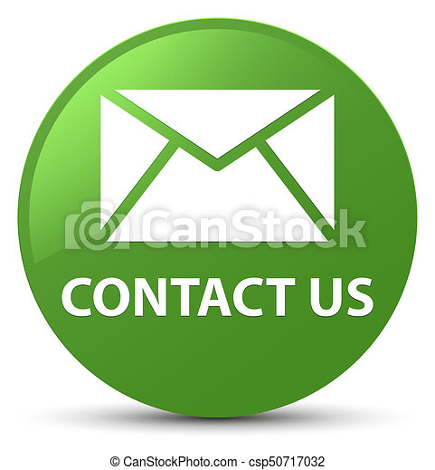 Contact us (email icon) soft green round button - csp50717032