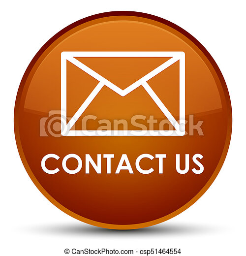 Contact us (email icon) special brown round button - csp51464554