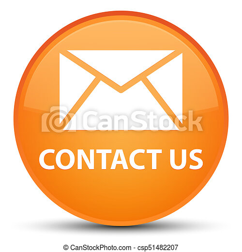 Contact us (email icon) special orange round button - csp51482207