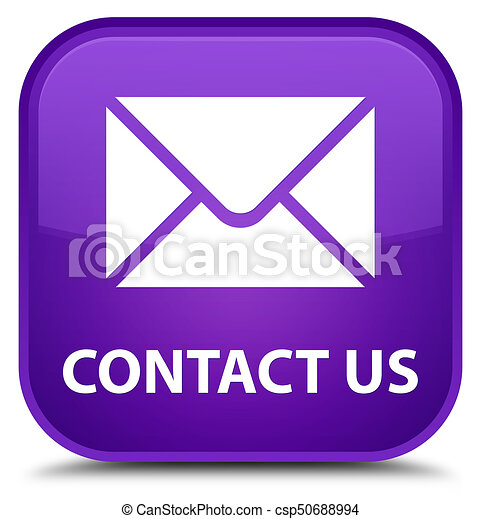 Contact us (email icon) special purple square button - csp50688994