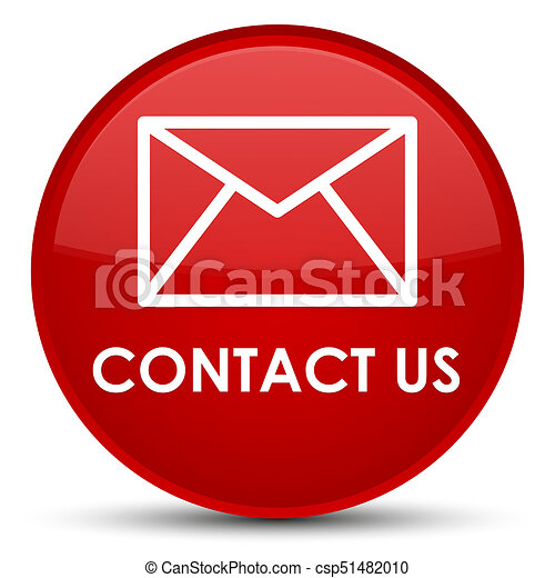 Contact us (email icon) special red round button - csp51482010