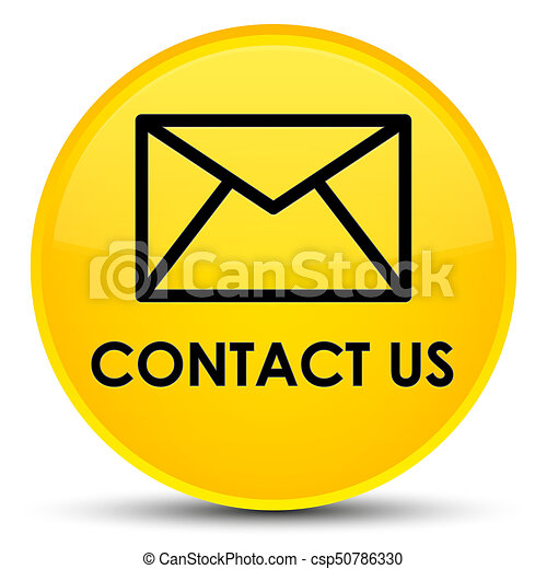 Contact us (email icon) special yellow round button - csp50786330