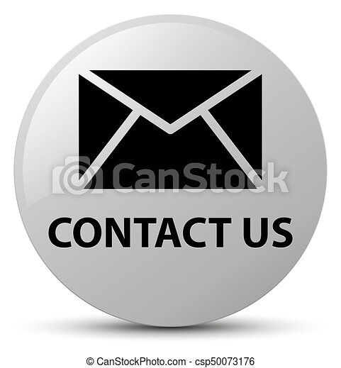 Contact us (email icon) white round button - csp50073176