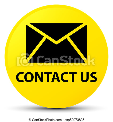 Contact us (email icon) yellow round button - csp50073838