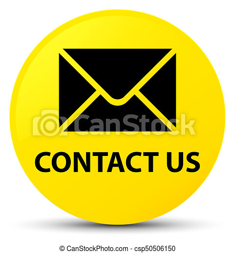Contact us (email icon) yellow round button - csp50506150