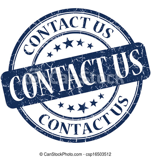 Contact us grunge blue round stamp - csp16503512
