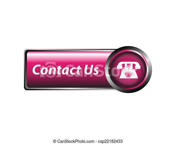 Contact us icon, button - csp22182433