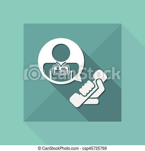 """Contact us"" icon - csp45725769"