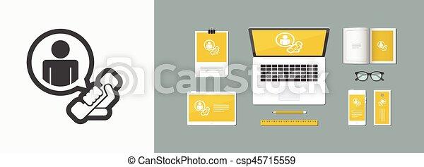 """Contact us"" icon - csp45715559"