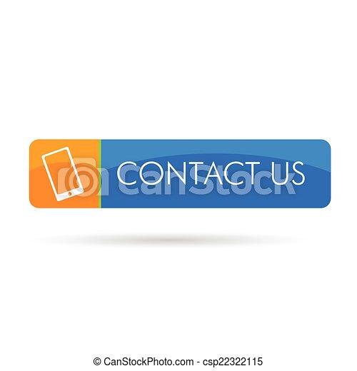 contact us icon color vector - csp22322115