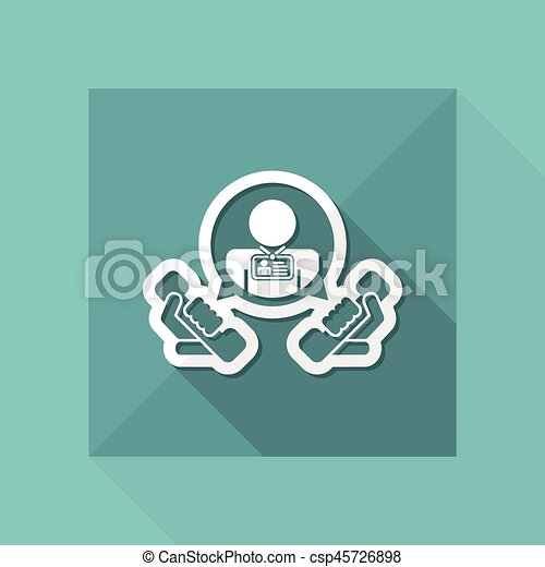 """Contact us"" icon - csp45726898"