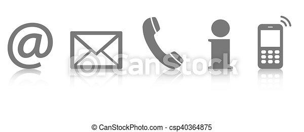 contact us icon set - csp40364875