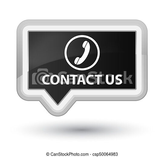 Contact us (phone icon) prime black banner button - csp50064983