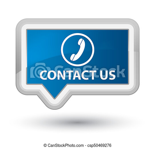 Contact us (phone icon) prime blue banner button - csp50469276