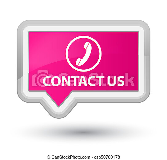 Contact us (phone icon) prime pink banner button - csp50700178