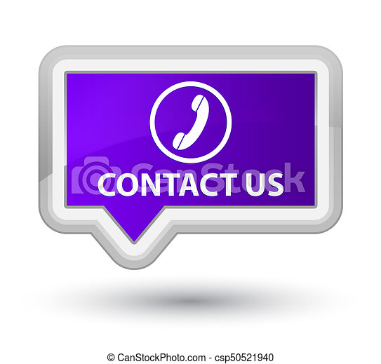 Contact us (phone icon) prime purple banner button - csp50521940