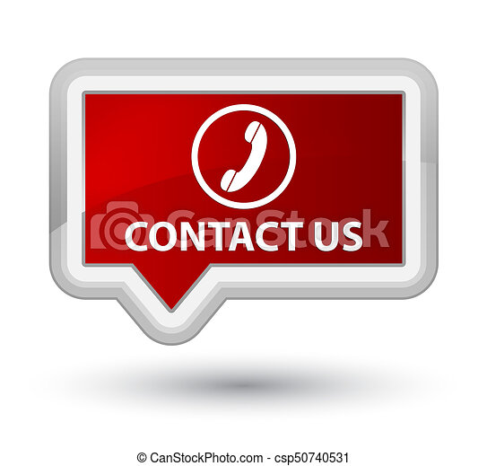 Contact us (phone icon) prime red banner button - csp50740531