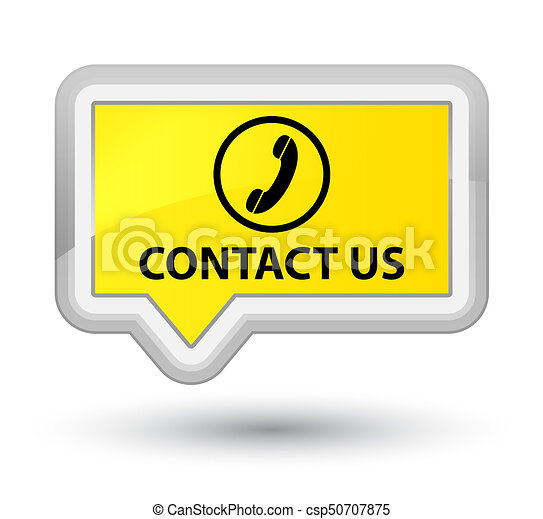 Contact us (phone icon) prime yellow banner button - csp50707875