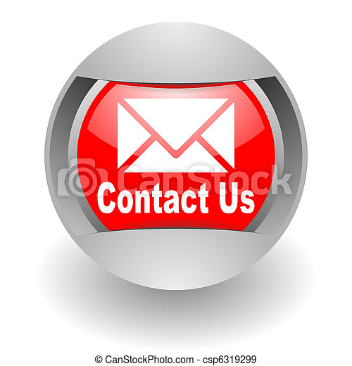 contact us steel glosssy icon - csp6319299