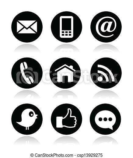 Contact, web, blog and social media - csp13929275