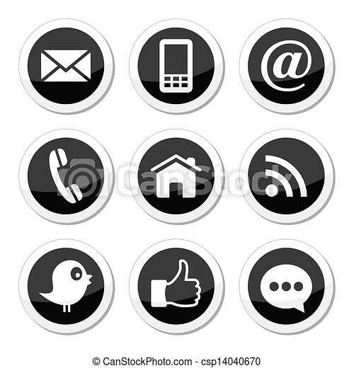 Contact, web, social media icons - csp14040670