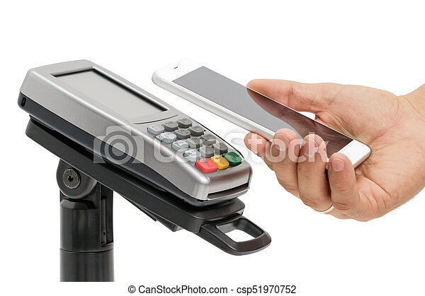 Contactless payment with NFC technology - csp51970752