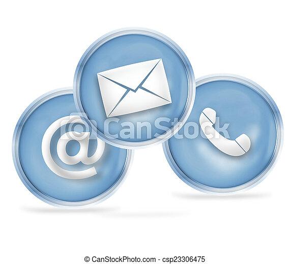Contacta con el diseño de iconos - csp23306475