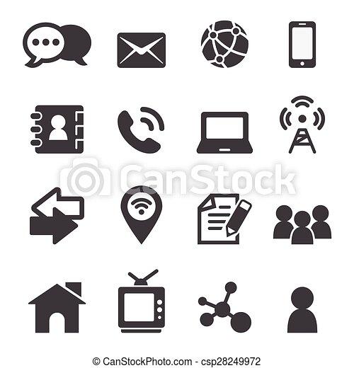 Contacto icono - csp28249972
