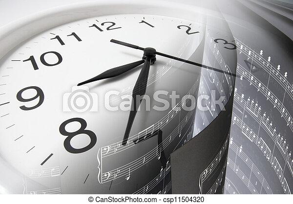 contagem, música, relógio - csp11504320