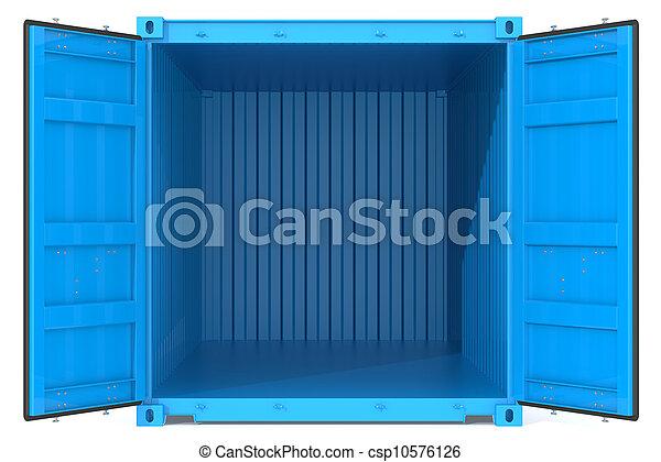 container., 打開 - csp10576126