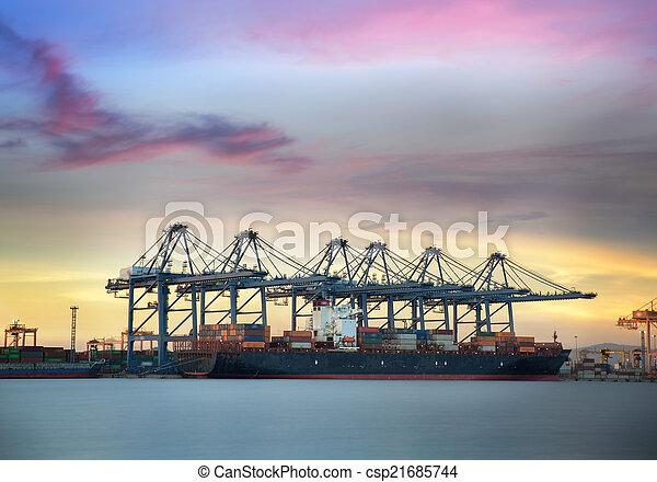 Container Cargo freight ship  - csp21685744