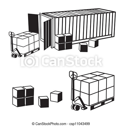 container isolated on white background - csp11043499