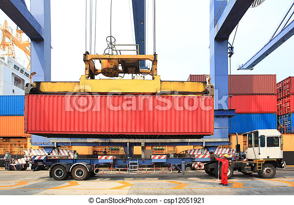 container operation in port - csp12051921