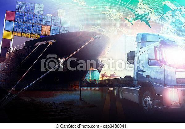 container ship  - csp34860411