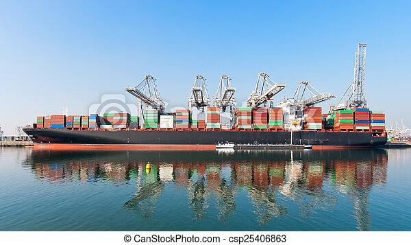 Container ship - csp25406863