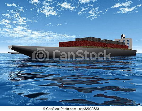 container ship - csp32032533