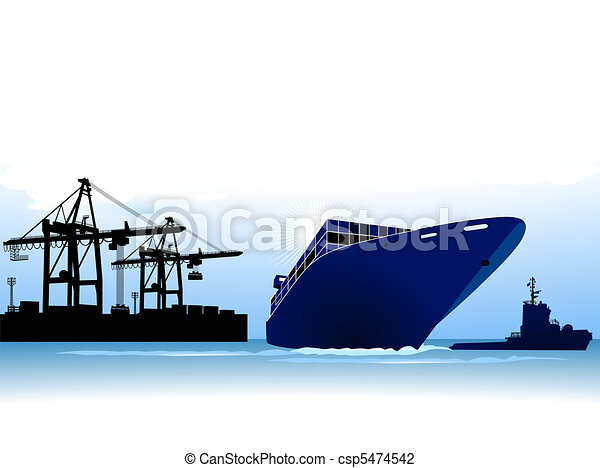 container ship to call at a port - csp5474542