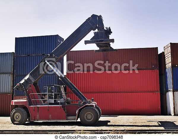 Container transportation machine - csp7098348