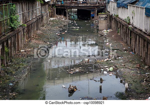 Contaminación por agua - csp10098921