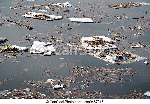 Contaminación de agua - csp0487016