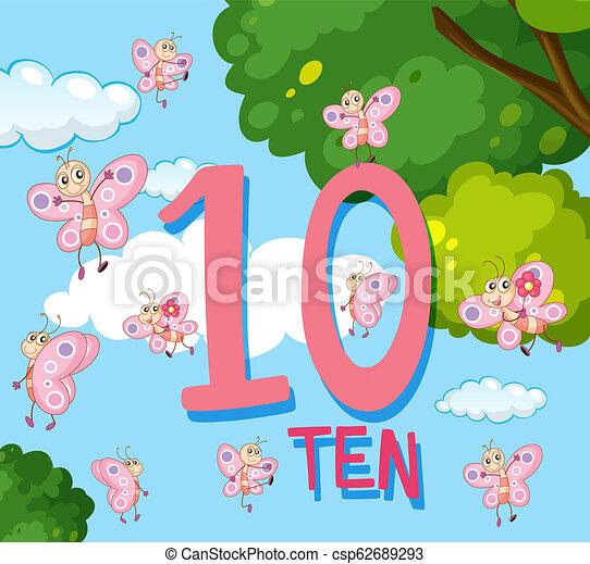 Número 10 Clip Art Vectorial Libre De Regalías 13712 Número 10