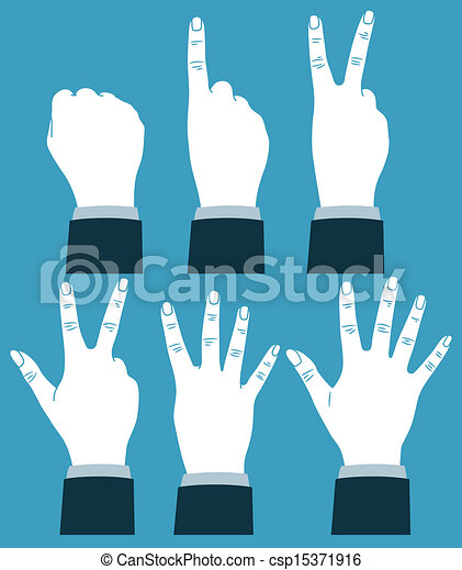 Contando la mano - csp15371916