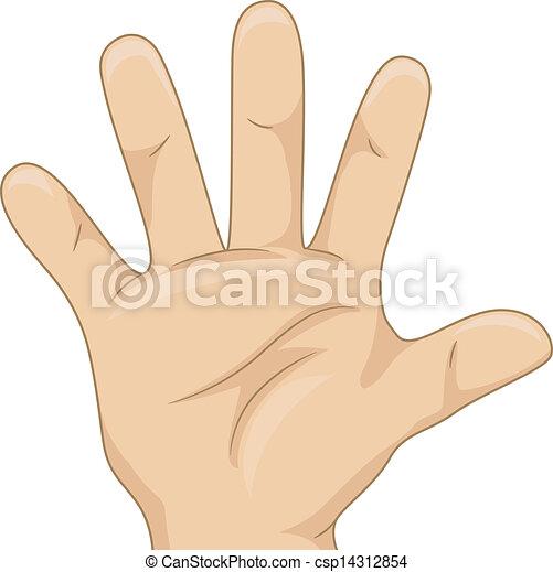contar, mostrando, criança, cinco, mão - csp14312854