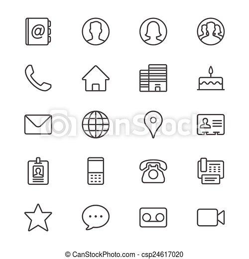 contato, magra, ícones - csp24617020